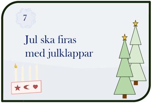 Jul ska firas med julklappar