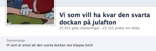 Facebookgrupp. Skärmbild 2012-12-18.